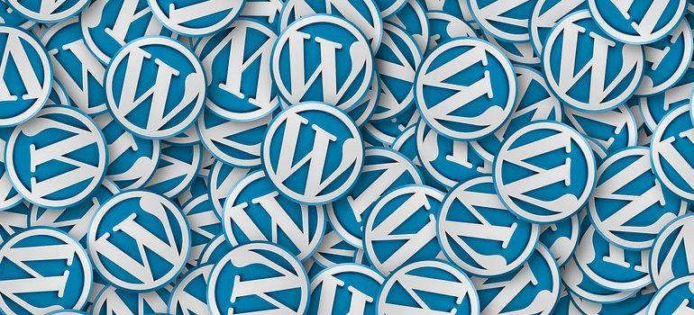 a lot of WordPress signs