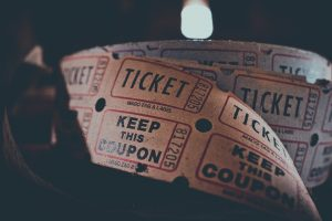 A roll of tickets and coupons.