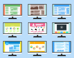 A showing of different website page templates.