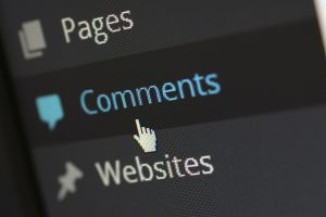 The comments section to adjust when trying to create posts and pages in WordPress.