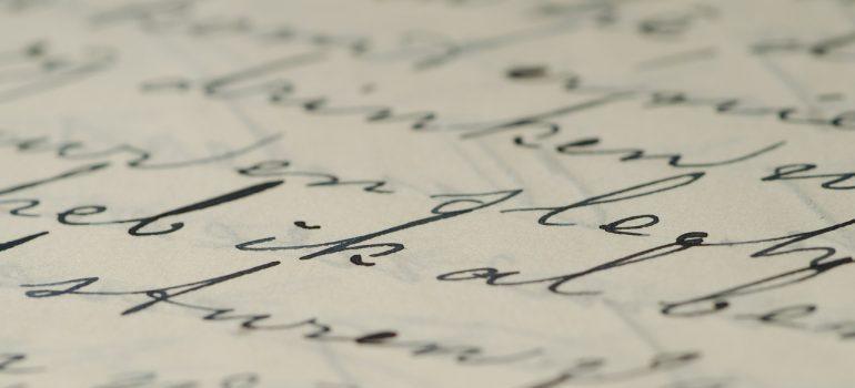 A hand-written letter.