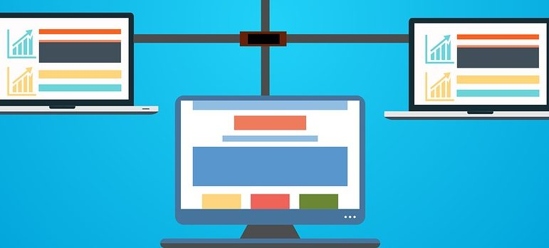 A graphic representation of web hosting.