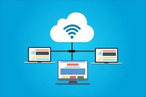 A representation of Cloud hosting.