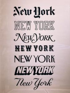 Word New York in a variety of styles you can use when you add custom fonts in WordPress