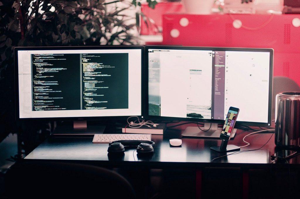 A computer room.