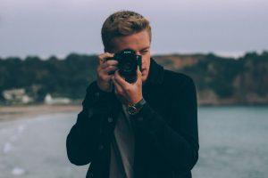 A man taking a photo.