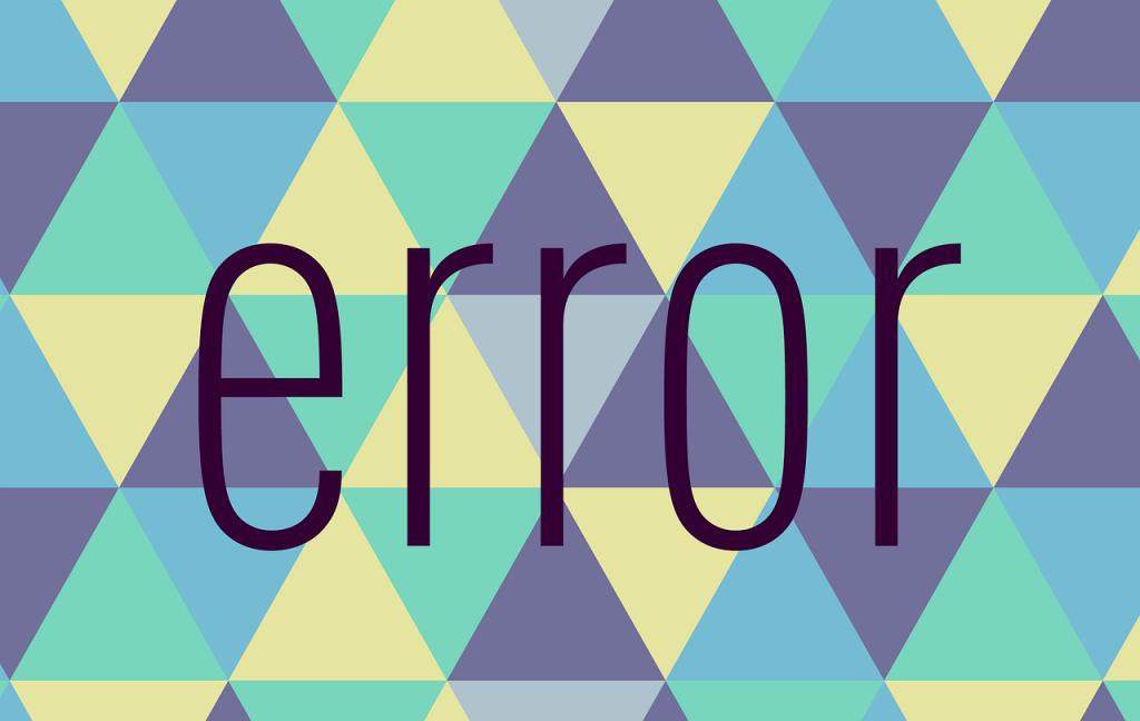 An illustration of an error.