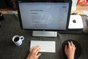 A man using WordPress for his blog