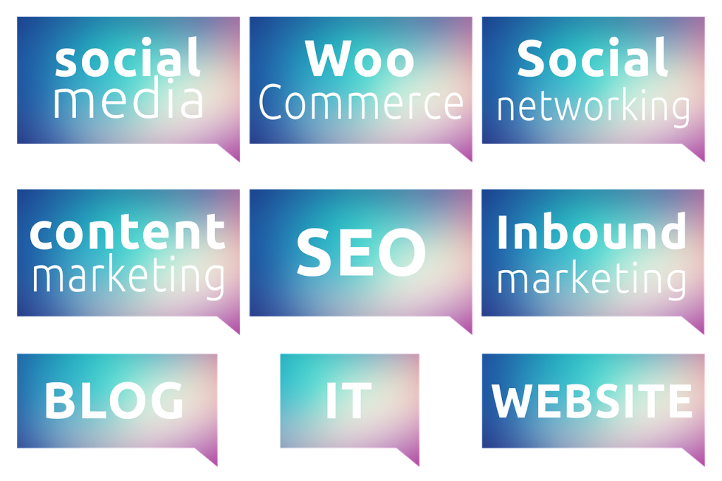 WooCommerce next to various aspects of online marketing, showing you what you'll need to tackle once you start with WooCommerce.