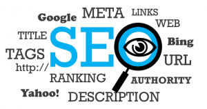 An illustration with SEO elements, that doesn't show that headings and subheadings affect SEO.
