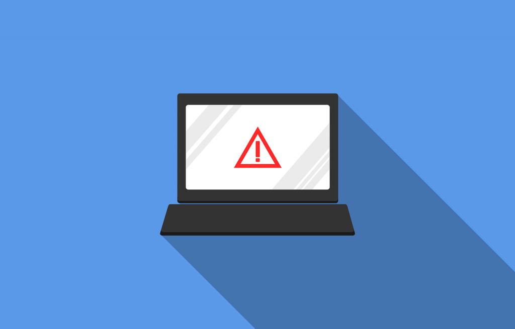 An alert on a computer.