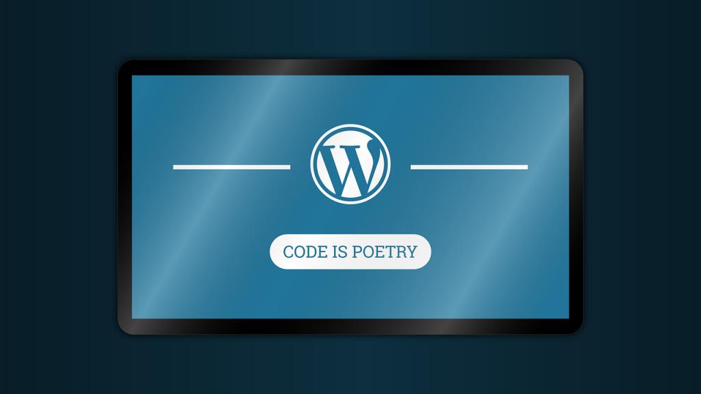 WordPress, code is poetry.