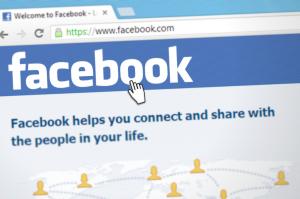 A Facebook homepage.