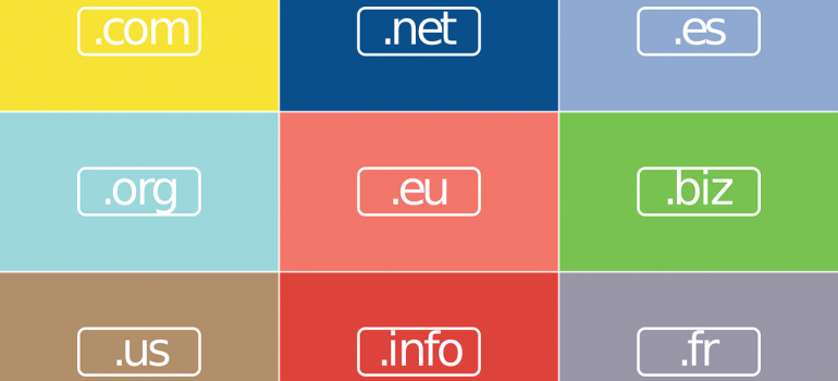 Different domain names.