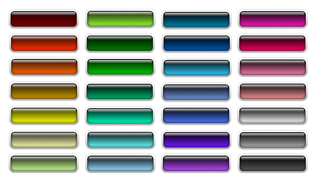 Different color schemes for buttons.