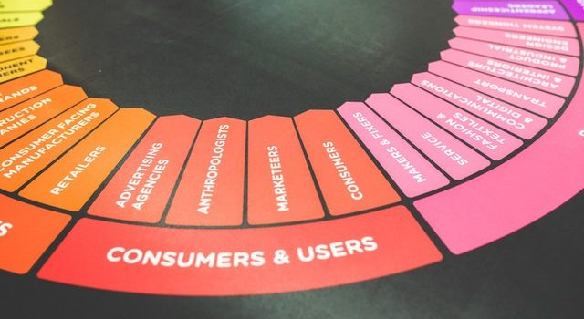 Circle with consumers and users written on it.