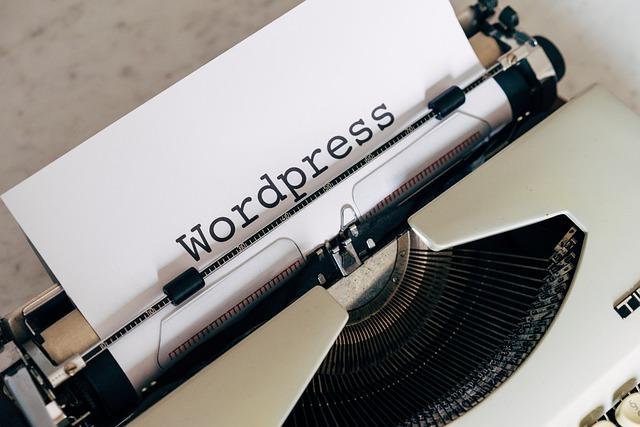 wordpress typed on a machine