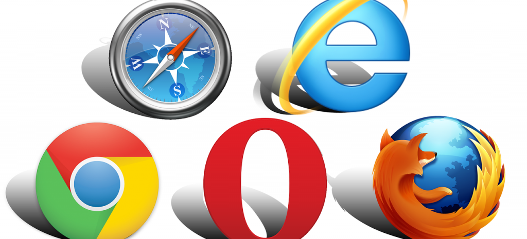 Major browsers' icons.