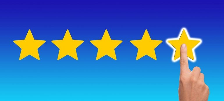 A person using stars to give a rating.