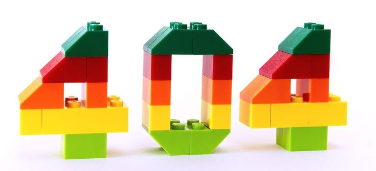 404 written in blocks.