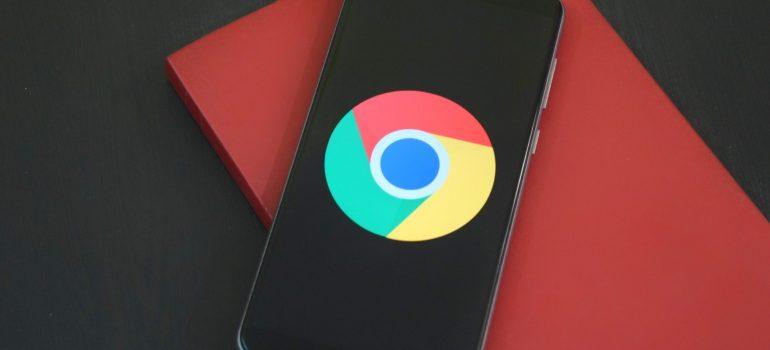 Google Chrome logo on a phone.