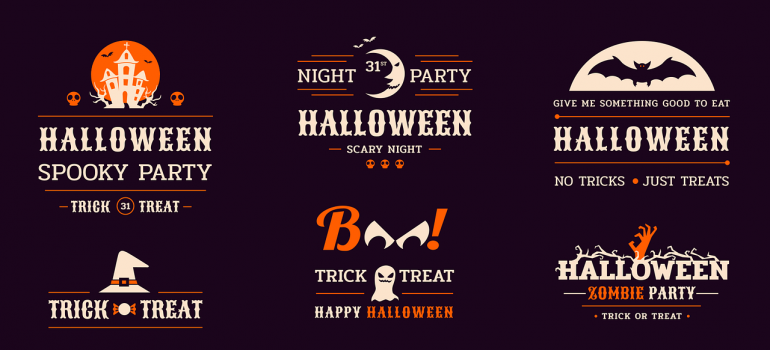 Different logos for a Halloween party