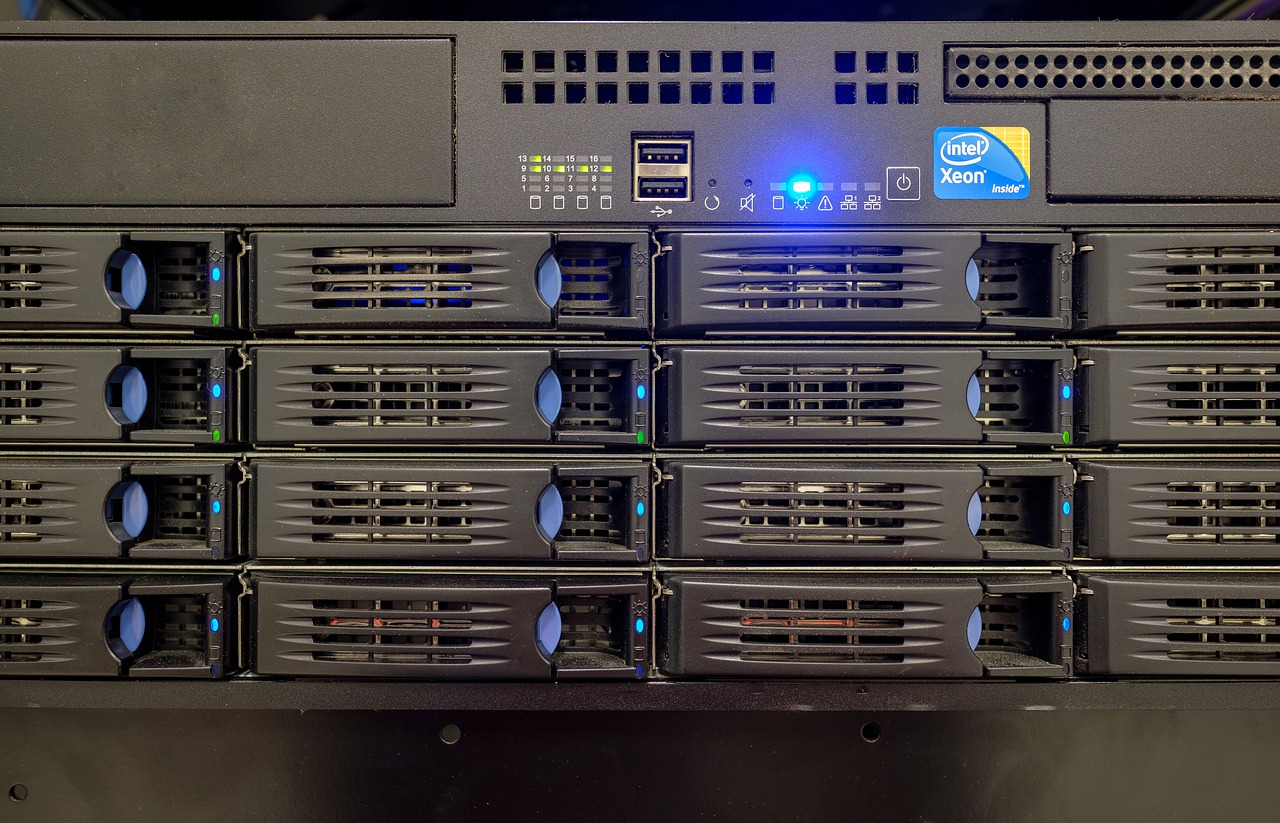 A piece of server hardware hosting companies are using.
